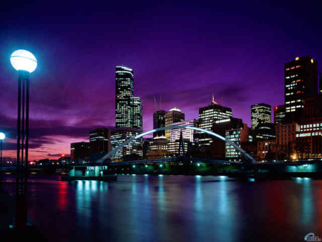 Red cities lights wallpaper night city wallpapers for City lights mural
