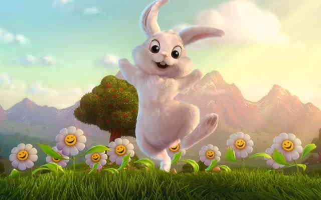 Rabbit 3D animals Free  wallpapers
