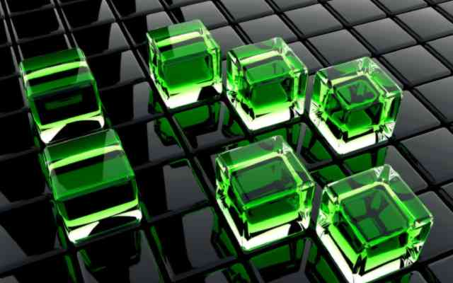3D HD Wallpaper, hd Wallpaper | 3D Wallpapers, 3D Cube, Green