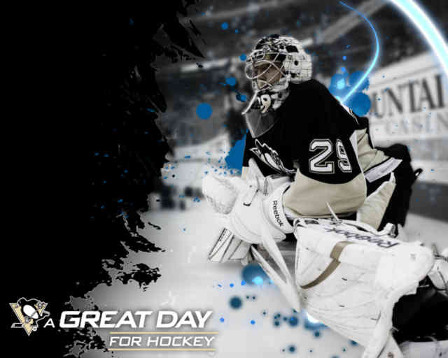 3D national hockey league NHL HD Wallpapers, Free HD wallpapers, Penguin Goalie