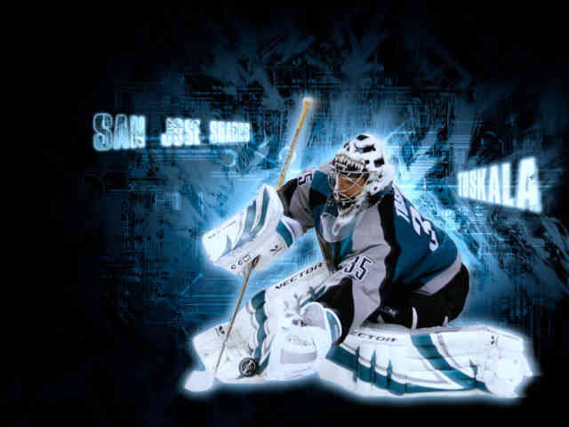 3D national hockey league NHL Wallpapers, Free wallpapers, San Jose Goalie