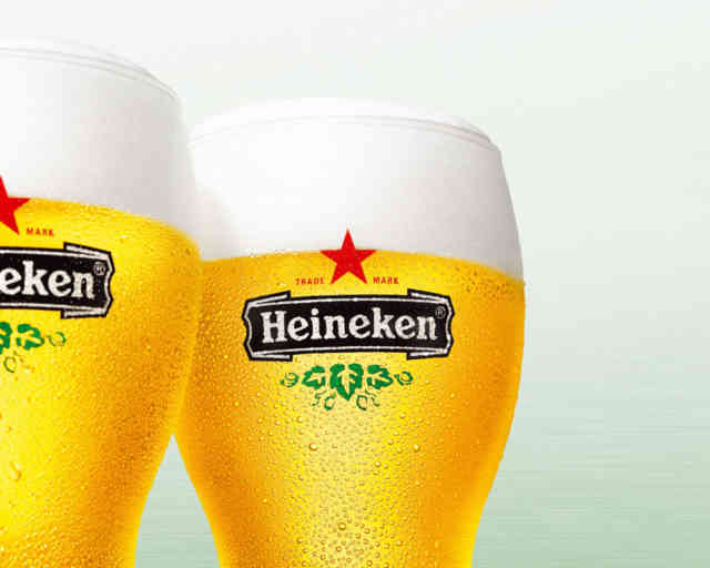 Beer wallpapers, Free picture, two Heineken