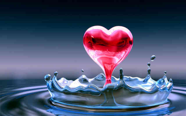 Best computer wallpapers 2012 – bestscreenwallpaper.com – funny love heart in water