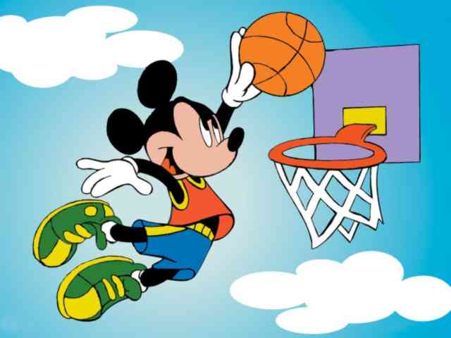 Cartoon Animated Wallpapers - bestscreenwallpaper.com - Mickey basket