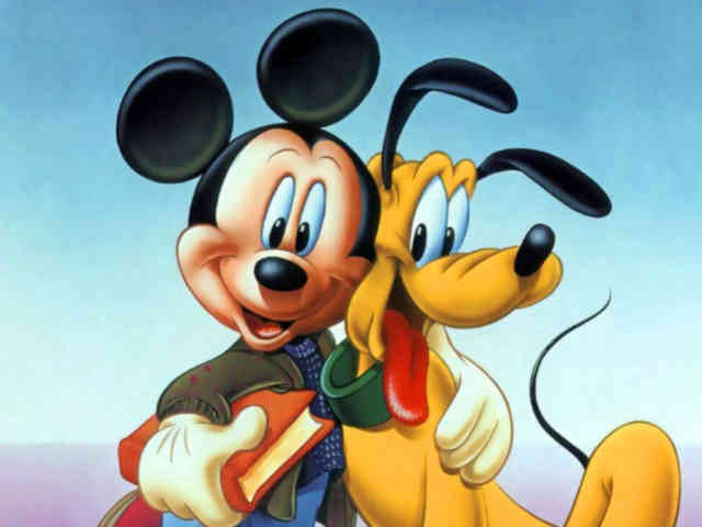 Cartoon Animated Wallpapers - bestscreenwallpaper.com - Mickey with Gooffy