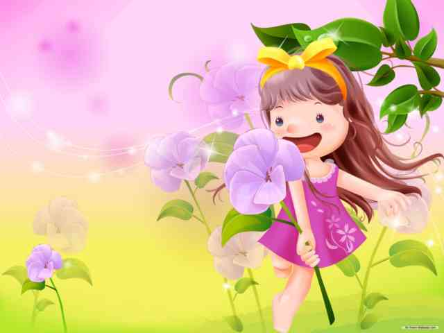 Cartoon Animated Wallpapers – bestscreenwallpaper.com – little girl