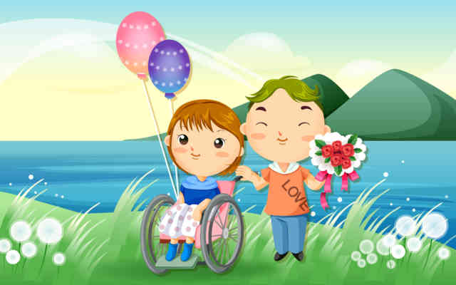 Cartoon Animated Wallpapers - bestscreenwallpaper.com - little kid with balloon