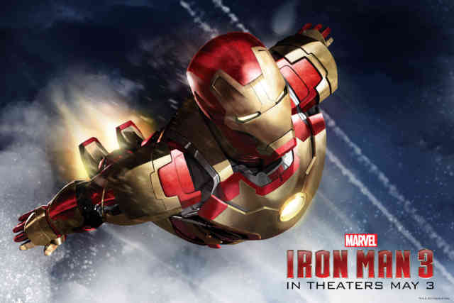 Flying Marvel Iron Man 3 Flying HD Wallpaper