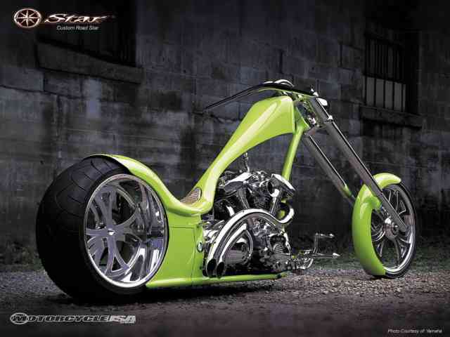 Free HD Choppers wallpapers,  West Cost Choppers theme bikes, green choppers