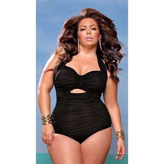 plus size swimsuits - Black