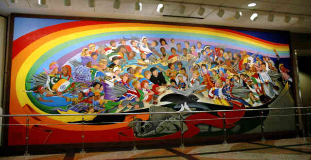 Denver airport murals denver colorado denver airport for Denver mural conspiracy