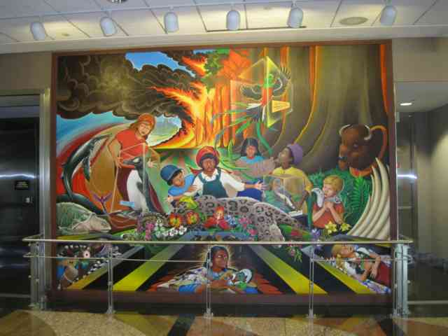 Denver airport murals denver colorado denver airport for Denver mural airport