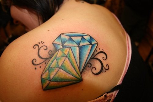 Diamond tattoo | Diamond tattoos | tattoo designs | tattoos | #23