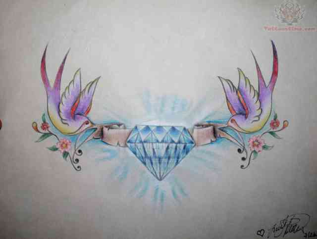 Diamond tattoo | Diamond tattoos | tattoo designs | tattoos | #9