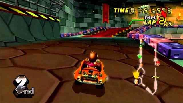 Orange kart Mario Cart Online