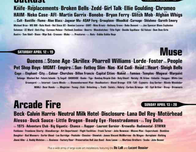 Coachella Line Up 2014 | wallpaper | #1
