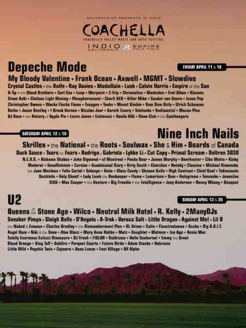 Coachella Line Up 2014 | wallpaper | #2