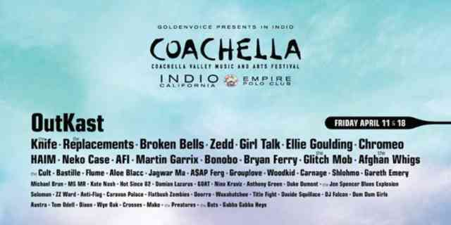 Coachella Line Up 2014 | wallpaper | #3
