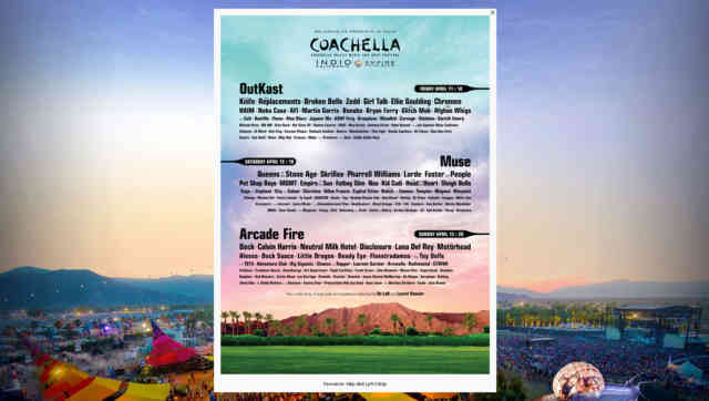 Coachella Line Up 2014 | wallpaper | #4