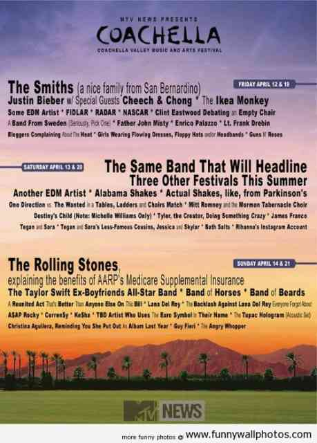 Coachella Line Up 2014 | wallpaper | #7