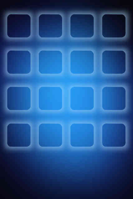 Blue Square 3D Iphone Wallpaper