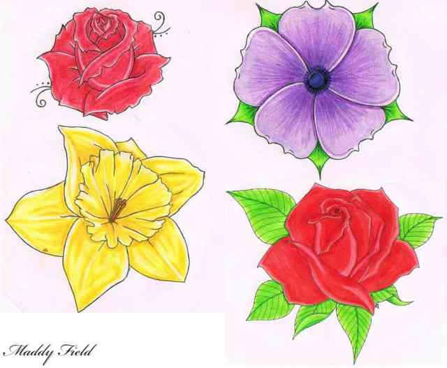 Flower Drawings | Flowers wallpapers | #20