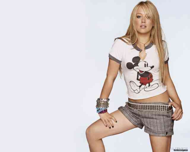 Mickey Mouse with Hilary Duff Wallpapers