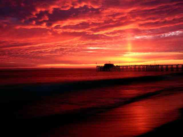Red Sky Beach Wallpapers