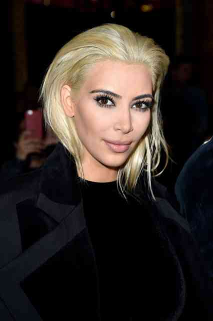2015 March Pictures Kim Kardashian Platinum Blonde Hair | Kim Kardashian Wallpapers | #1