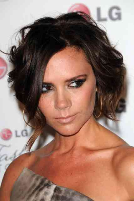 Dark Brown Victoria Beckham Hairstyle