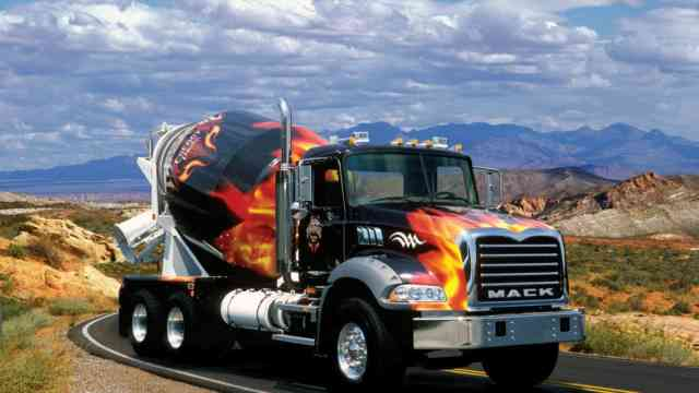 HD Flame Cement Truck Wallpapers | Pickup Truck