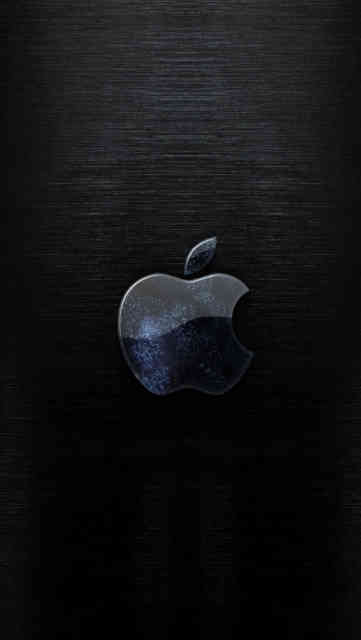 Iphone Backgrounds HD Apple Logo Blue Dark