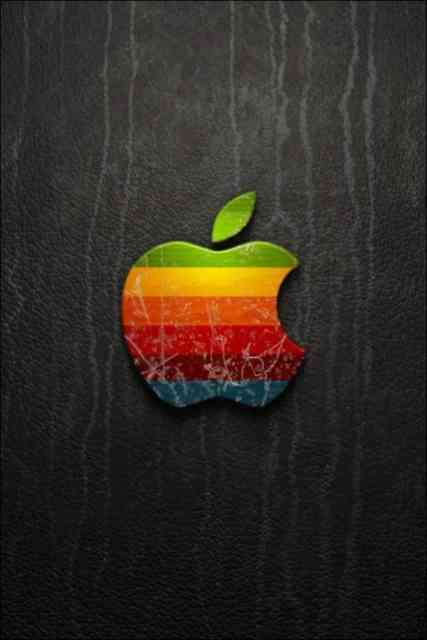 Iphone Backgrounds HD Apple Logo Multi-color