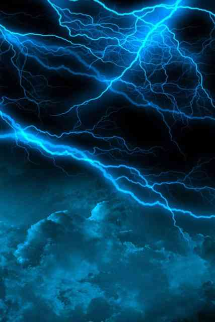 Iphone Backgrounds HD Blue Lightning