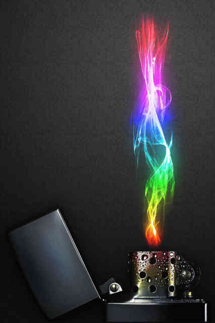 Iphone Backgrounds HD Zippo flames Multi-color
