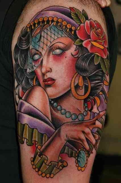 American Gypsy Tattoo Purple