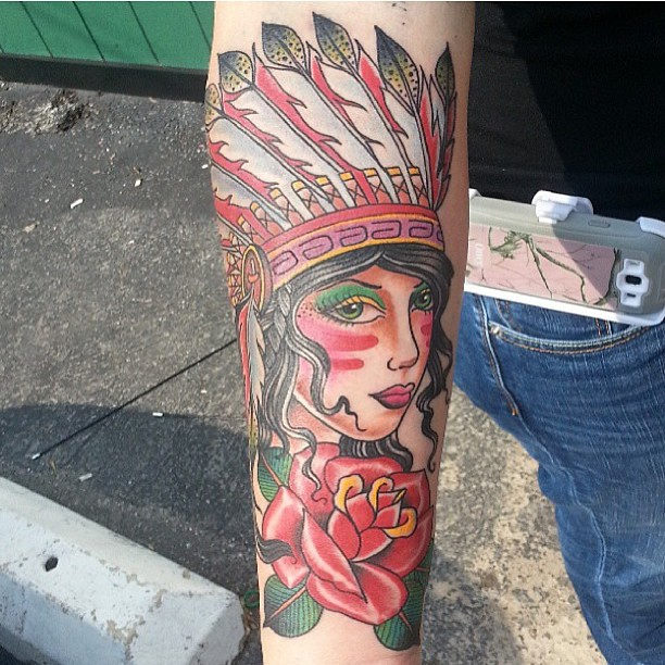 American Gypsy Tattoo on Arm