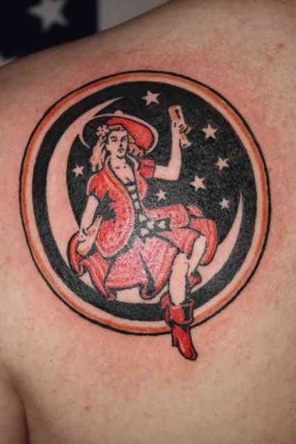 American Gypsy Tattoo with Moon