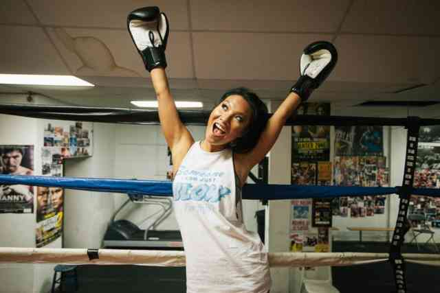 Asa Akira Boxing in the ring