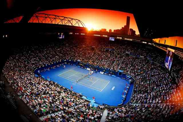 Australian Open Tennis 2015 Melbourne Sunset