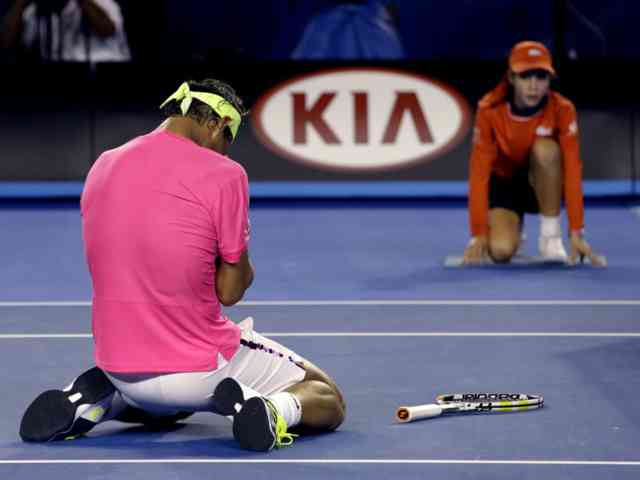 Australian Open Tennis 2015 Nadal Deception