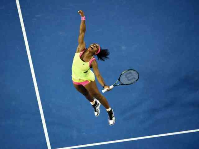 Australian Open Tennis 2015 Williams Service Image