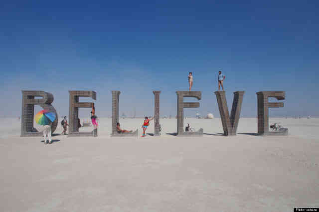 Burning Man Art  | Believe