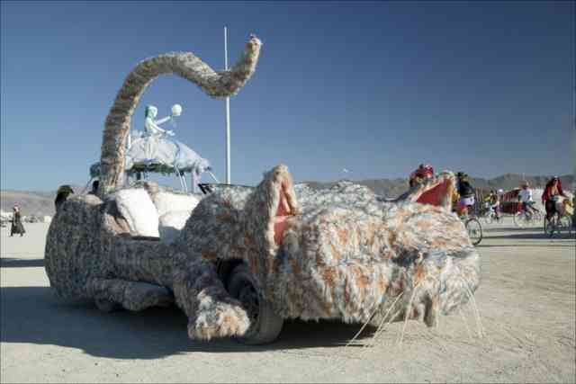 Burning Man Art  | Cat Statue