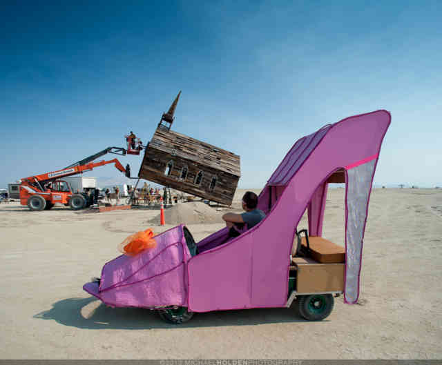 Burning Man Art  | High Heels Statue