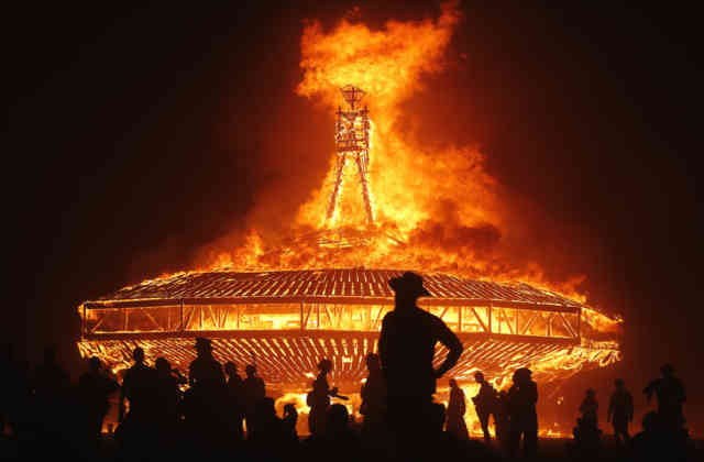 Burning Man Art  | Mega Fire Statue
