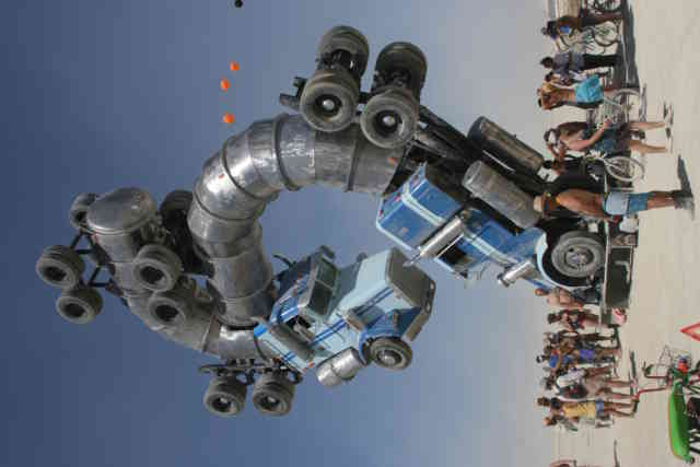Burning Man Art  | Truck Statue