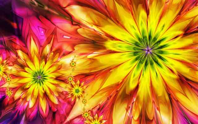 Colorful Flowers 3D HD Flowers WAllPAPERS