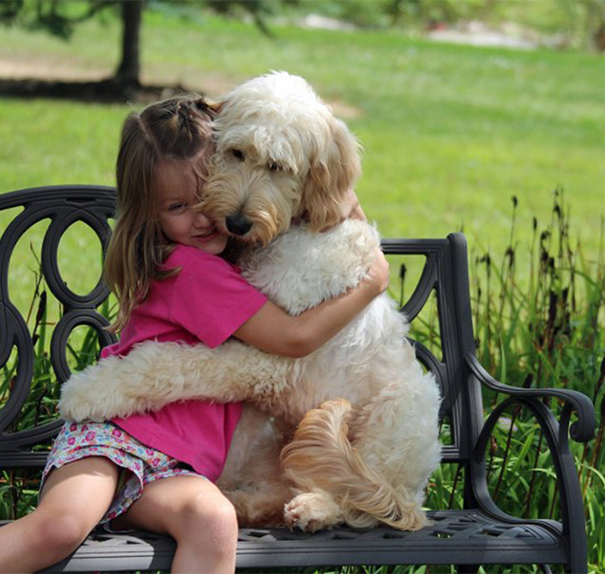 Cute Dog Love Kid Photos