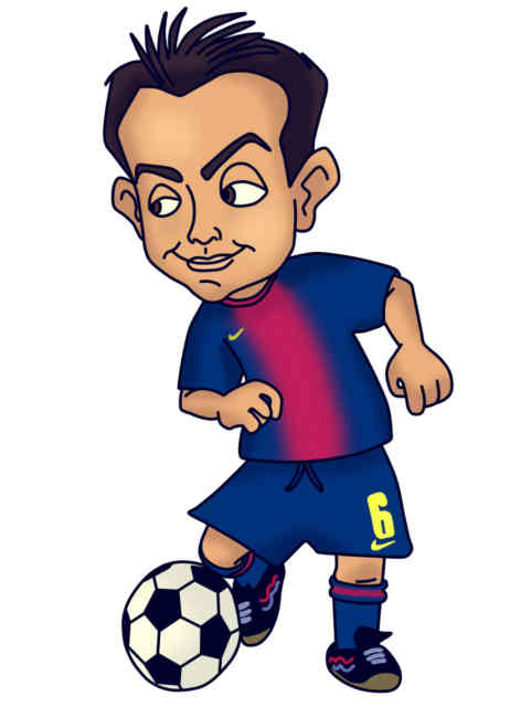 football cartoon caricature football player